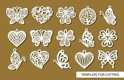 Set dekoracyjni breloczki royalty ilustracja