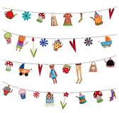 Set dekoracyjni elementy Zdjęcie Royalty Free