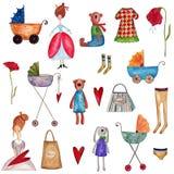 Set dekoracyjni elementy Zdjęcia Stock
