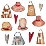 Set dekoracyjni elementy Zdjęcie Stock