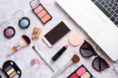 Set dekoracyjni kosmetyki dla kobiet obrazy stock