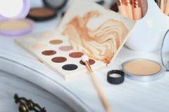 Set dekoracyjni kosmetyki na boudoir Zdjęcia Stock