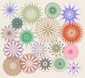 Set dekoracyjni kwieciści ornamenty ilustracji
