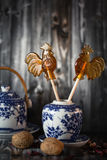Set dekoracyjni porcelan naczynia Obrazy Stock