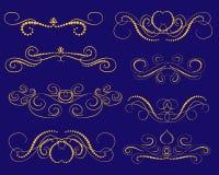Set dekoracyjni zawijasów dividers, granicy zdjęcie royalty free