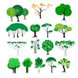 Set dekoracyjny drzewo, wektor/ Ilustracja Wektor
