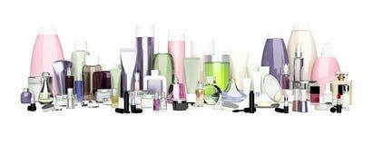 Set dekoracyjny kosmetyk Proszek, concealer, oko cienia muśnięcie, Zdjęcia Royalty Free