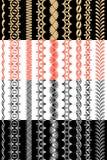 Set dekorative Farbbänder Lizenzfreies Stockfoto