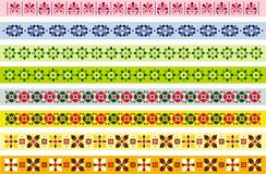 Set dekorative Grenzen Stockbild