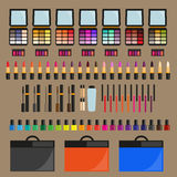 Set dekorative Kosmetik Stockfotos
