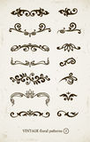 Set dekorative Muster der Weinlese Stockfotos