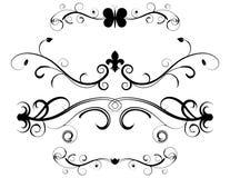 Set dekorative Seiten-Teiler Stockbild