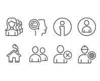 Delete user, Users and Women headhunting icons. Writer, Avatar and Engineer signs. Set of Delete user, Users and Women headhunting icons. Writer, Avatar and Stock Photos