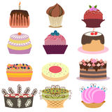 Set of delicious cakes Stock Image