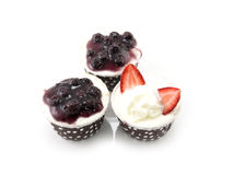 Set of delicious cupcake Stock Image