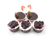 Set of delicious cupcake Royalty Free Stock Images