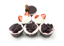 Set of delicious cupcake Royalty Free Stock Photo