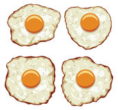 vector set of delicious fried eggs for breakfast Stock Image