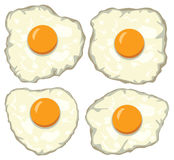 vector set of delicious fried eggs for breakfast Royalty Free Stock Image