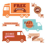 Set of delivery badges. Royalty Free Stock Images