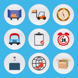 Set of delivery icons stock illustration