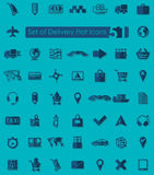 Set of delivery icons Stock Images