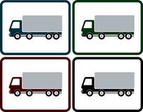 Set of delivery truck icon Royalty Free Stock Images