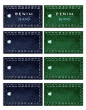 Set denim labels Royalty Free Stock Image