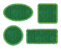 Set of denim patches Royalty Free Stock Images