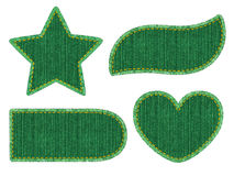 Set of denim patches Stock Photography