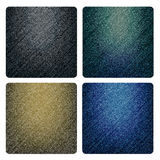 Set of denim textures Stock Image