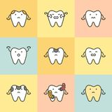 Set of dental care, element for tooth concept royalty free illustration