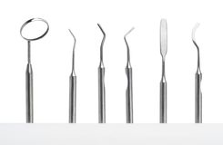 Set of dental care instruments Royalty Free Stock Photo