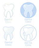 Set of Dental Clinic Logotypes Stock Photography