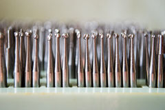 Set of dental drills closeup, selective focus Stock Photos