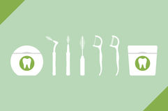 Set of dental floss type Royalty Free Stock Photography
