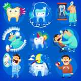 Set of dental icons Royalty Free Stock Photography