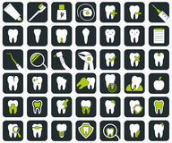 Set of dental icons. Stock Photo