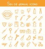 Set of dental icons Stock Photo