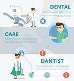 Set of dental infographics Stock Photography