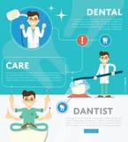 Set of dental infographics Stock Images