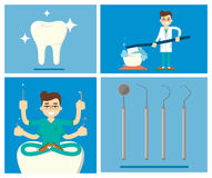 Set of dental infographics Stock Images