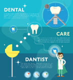Set of dental infographics Royalty Free Stock Photos