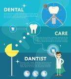 Set of dental infographics Royalty Free Stock Photos