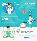 Set of dental infographics Royalty Free Stock Photo