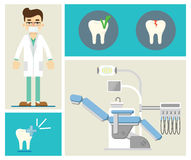 Set of dental infographics Stock Photos
