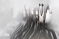 Set of dental pliers on foggy morning light Royalty Free Stock Image