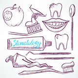 Set with dental tools Royalty Free Stock Images