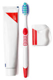 Set dentifrice. on a white background Stock Photography