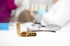 Set of dentist drills Stock Photography